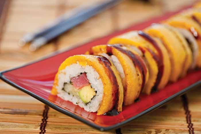 plantain sushi mic food big banana