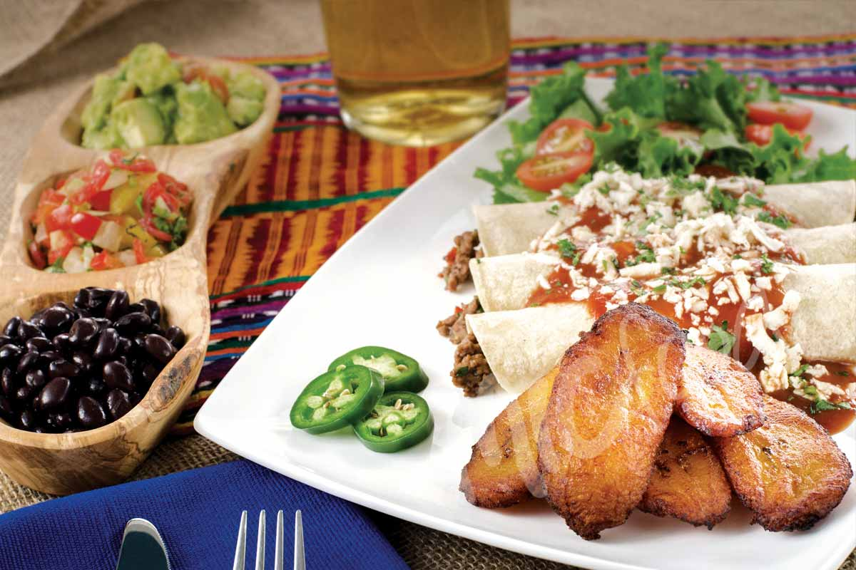 MIC Food® Mexican Enchiladas with Ripe Plantain Slices