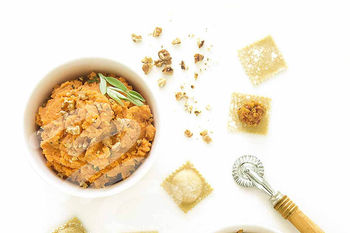 Sweet Potato Ravioli with Brown Butter Sauce
